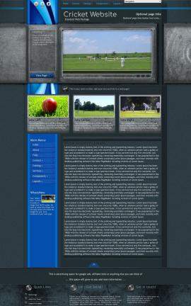 Radius Cricket Website Template