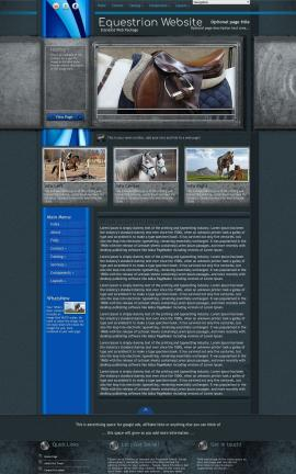 Radius Equestrian Website Template