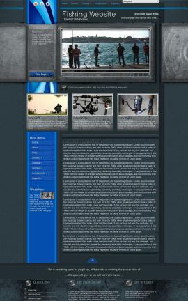 Radius Fishing Website Template