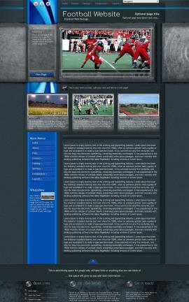 Radius Football Website Template