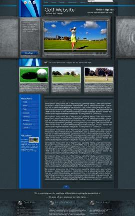 Radius Golf Website Template
