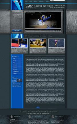 Radius Gymnastics Website Template
