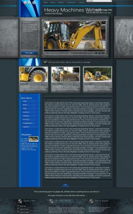 Radius Heavy-machines Website Template