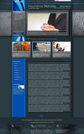 Radius Insurance Website Template