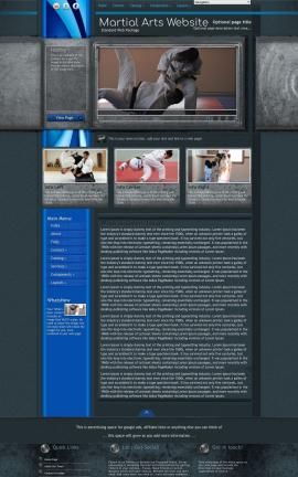 Radius Martial-arts Website Template