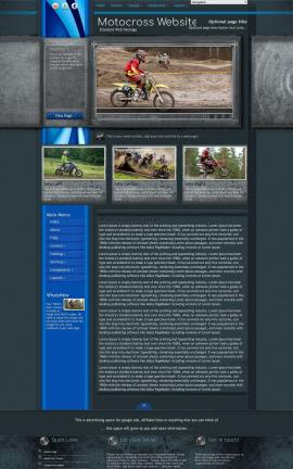 Radius Motocross Website Template