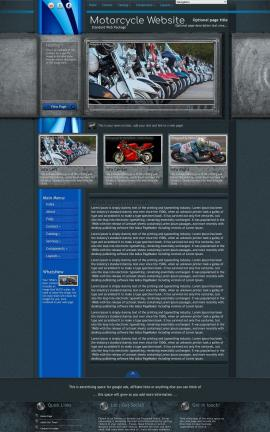 Radius Motorcycle Website Template