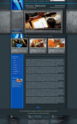 Radius Music Website Template