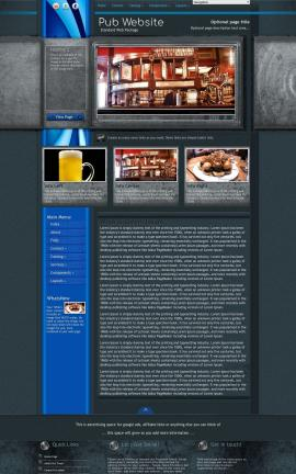 Radius Pub Website Template