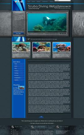 Radius Scuba-diving Website Template
