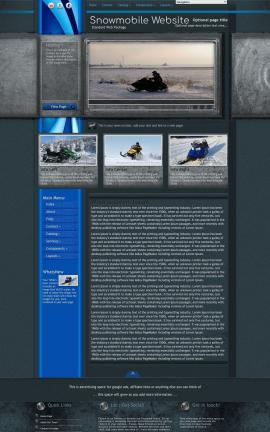 Radius Snowmobile Website Template