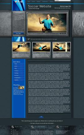 Radius Soccer Website Template