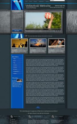 Radius Volleyball Website Template