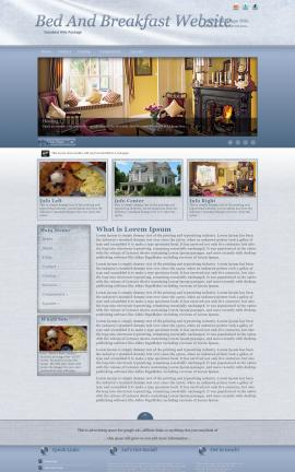 Accent Bed-and-breakfast Website Template