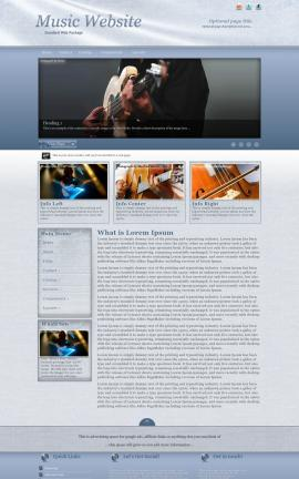Accent Music Website Template
