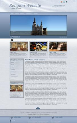 Accent Religion Web Template