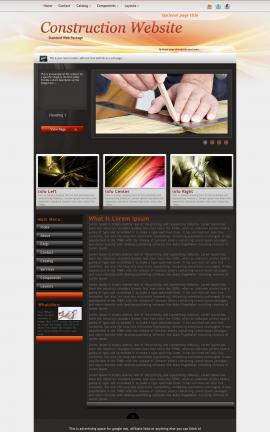 Trek Construction Website Template