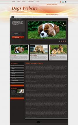 Trek Dogs Website Template