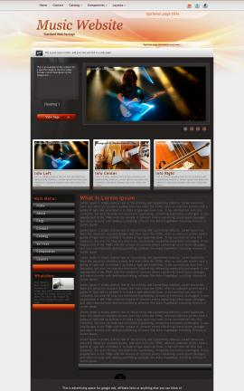 Trek Music Website Template