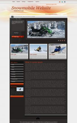Trek Snowmobile Website Template