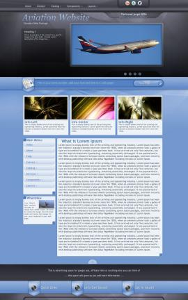Stitch Aviation Dreamweaver Template