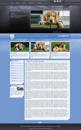 Stitch Dogs Website Template
