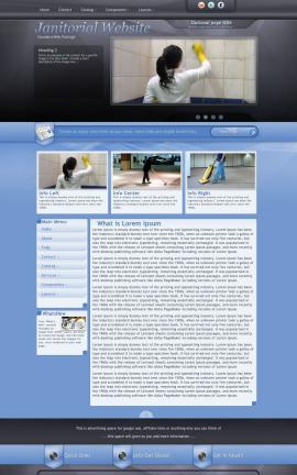 Stitch Janitorial Website Template