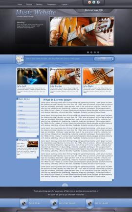 Stitch Music Website Template