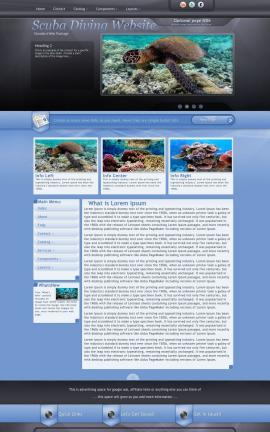 Stitch Scuba-diving Website Template