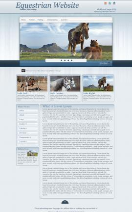 Parchment Equestrian Website Template
