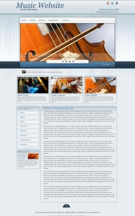 Parchment Music Website Template
