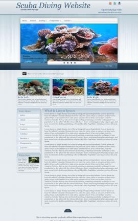 Parchment Scuba-diving Website Template