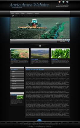 Element Agriculture Website Template