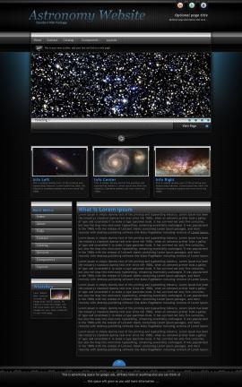 Element Astronomy Website Template