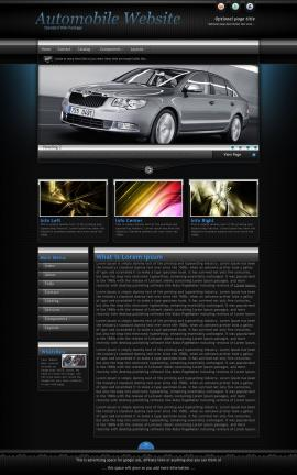 Element Automobile Website Template