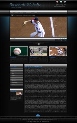 Element Baseball Website Template