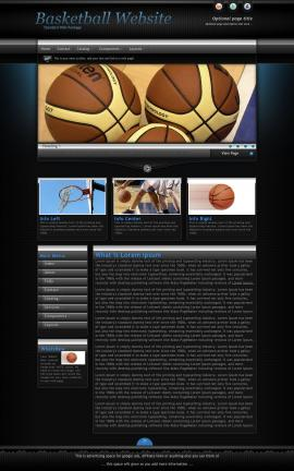 Element Basketball Website Template