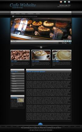 Element Cafe Website Template