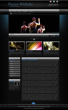 Element Dance Website Template