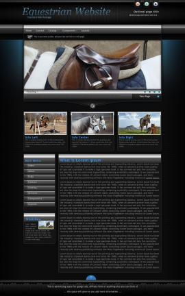 Element Equestrian Website Template