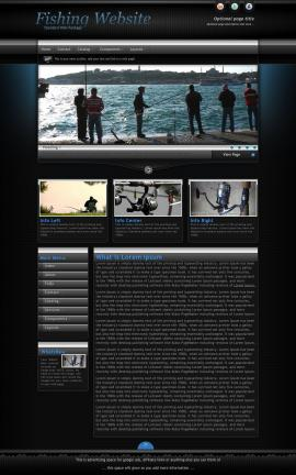 Element Fishing Website Template