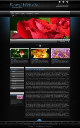 Element Floral Website Template