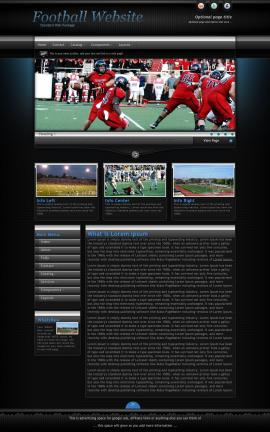 Element Football Website Template