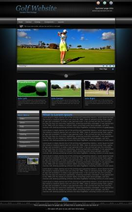 Element Golf Website Template