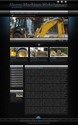Element Heavy-machines Website Template