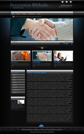 Element Insurance Website Template