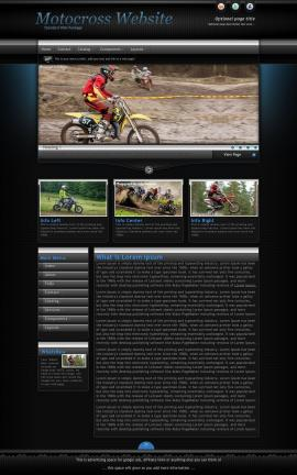 Element Motocross Website Template