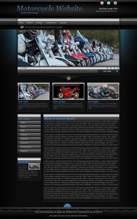 Element Motorcycle Website Template