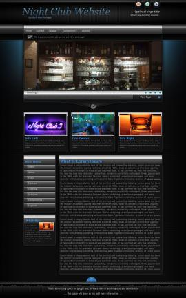 Element Night-club Website Template