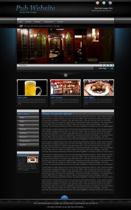Element Pub Website Template